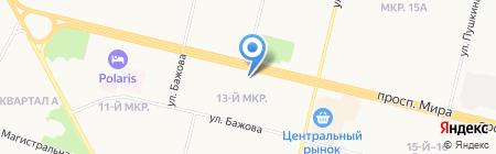 Арсения на карте Сургута
