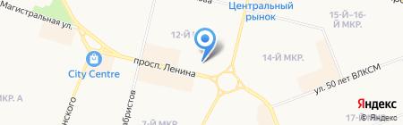 Subway на карте Сургута