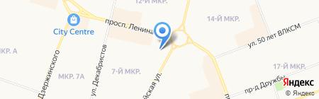 Туры 86 на карте Сургута