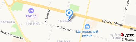 Средняя общеобразовательная школа №26 на карте Сургута