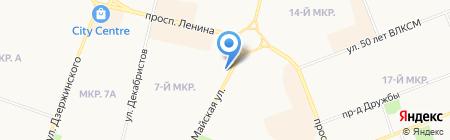 Цветы на карте Сургута
