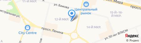 Средняя общеобразовательная школа №1 на карте Сургута