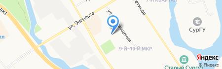 Афродита на карте Сургута