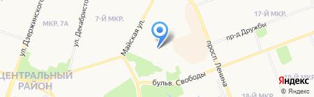 Нептун на карте Сургута