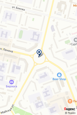 Экспром на карте Сургута