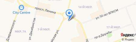 Магазин канцтоваров на проспекте Ленина на карте Сургута