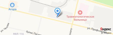 Автовинил и съемная тонировка на карте Сургута