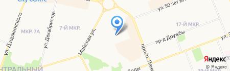 Детский сад №81 Мальвина на карте Сургута