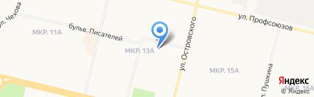 Почтовое отделение №18 на карте Сургута