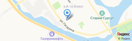 ПГСК-45 на карте Сургута