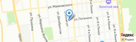Пивной бочонок на карте Омска