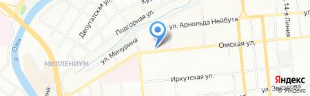 Смирнов бэттериз на карте Омска