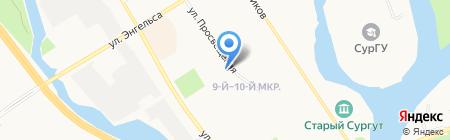 Двина на карте Сургута