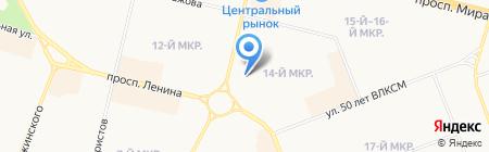 Юни-дент на карте Сургута