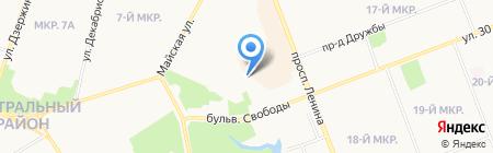 Алиса на карте Сургута