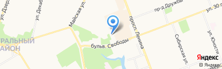 Веселая Синица на карте Сургута