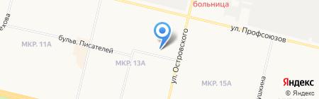 Клиника Эксперт на карте Сургута