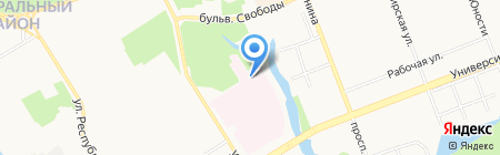 Бюро судебно-медицинской экспертизы на карте Сургута