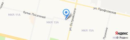Домашний на карте Сургута