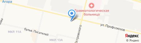 Сияние на карте Сургута