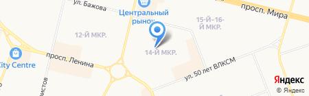Ледовый каток на карте Сургута