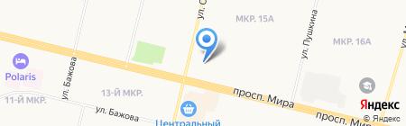 Газпром-Югра на карте Сургута