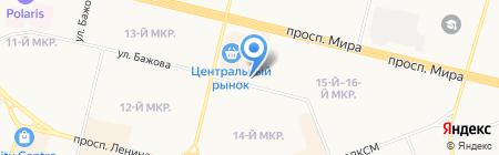 Удачи Вам на карте Сургута
