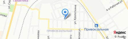 Привокзальный на карте Омска