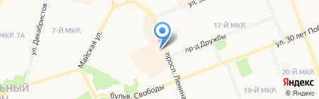 Еврочехол на карте Сургута