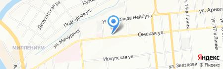 Колибри на карте Омска