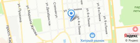 Грация на карте Омска