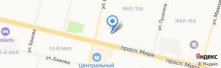 Банкомат Банк Уралсиб на карте Сургута