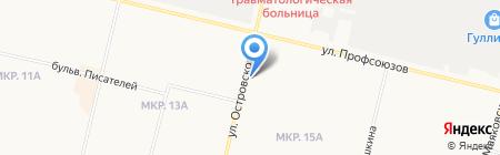 Лепесток на карте Сургута