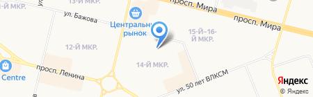 Консультативно-диагностическая поликлиника на карте Сургута