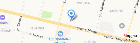 Лизинговая компания УРАЛСИБ на карте Сургута