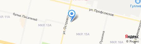 Евро-Офис на карте Сургута