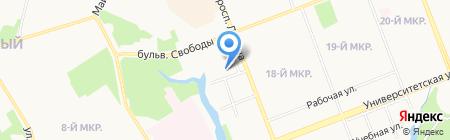 Сургутский клинический кожно-венерологический диспансер на карте Сургута