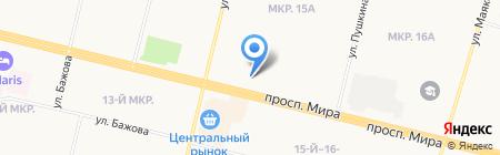 Сытый грузин на карте Сургута