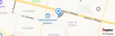 Детский сад №61 Лель на карте Сургута