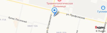 НТВ+Сургут на карте Сургута