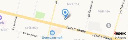 Общежитие на карте Сургута