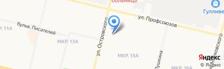 Магазин бытовой техники на карте Сургута