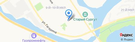 Управление ГО и ЧС г. Сургута на карте Сургута