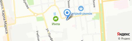 Яценко на карте Омска