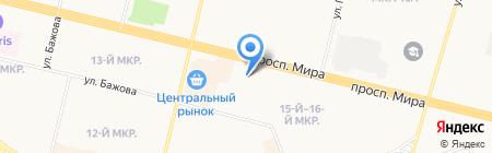 Пивной залив на карте Сургута