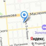 Лигна на карте Омска