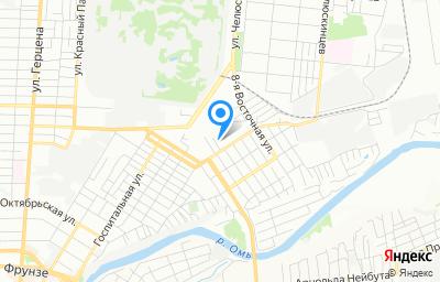 Местоположение на карте пункта техосмотра по адресу г Омск, ул Барнаульская, д 7/1