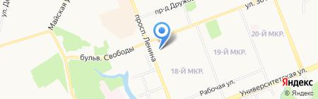 Банкомат АКБ Авангард на карте Сургута