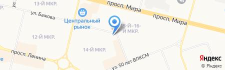 Сургутская городская клиническая поликлиника №1 на карте Сургута