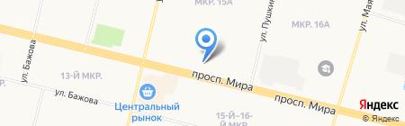 Банкомат Уральский банк реконструкции и развития на карте Сургута